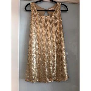 Champagne/Gold Sequin Dress